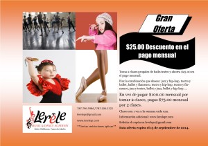 Oferta 2 clases baile grupales